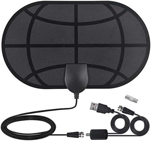 Antena TV Interior- SOOTEWAY Antena TV portátil HDTV Digital con Amplificador de señal Inteligente para Canales de TV 1080P 4K gratuitos para DTMB, ...