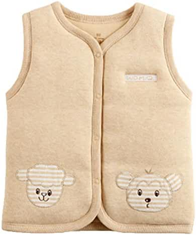 Monvecle Baby Organic Cotton Warm Vests Unisex Infant to Toddler Padded Waistcoat