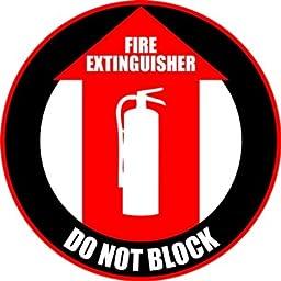 Fire Extinguisher Do Not Block Anti Slip 12\