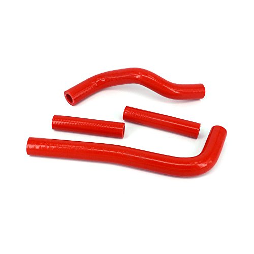 Red Reinforced Silicone Radiator Coolant Hoses Kit For Motorcycle Honda CRF150 07-14 ()