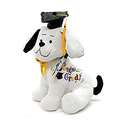 "Graduation Autograph Dog With Pen, Black Hat - Congrats Grad! - 10.5""H- Medium - Hound Dog Gift Toys for Graduate Student Party (10.5""H- Medium): Home & Kitchen"