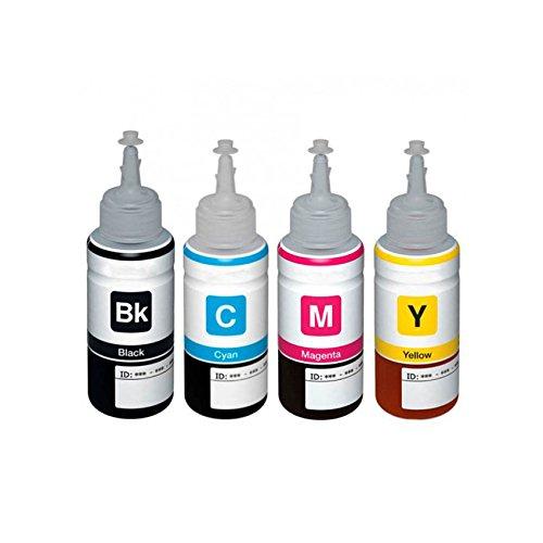 1 Impostato Colour Direct Compatible Bottiglia ricarica inchiostro Sostituzione Per Epson T6641 T6642 T6643 T6644 - EcoTank ET-14000 ET-2500 ET-2550 ET-2600 ET-2650 ET-3600 ET-4500 L355 L555 Stampanti