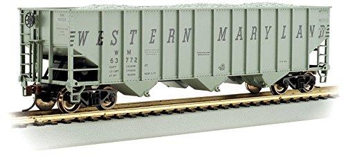 Bachmann Trains Western Maryland (Gray) #63834 Bethlehem Steel 100 Ton Three-Bay Hopper-Ho Scale