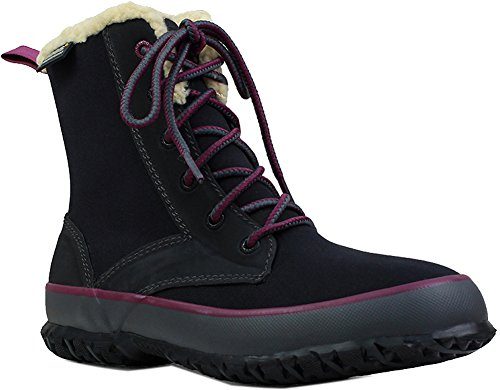 Bogs Womens Skyler Lace Rain Boot Black Size 10