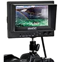 Lilliput 569gl-50np/ho/y 5-inch On-camera Hd LCD Field Monitor w/ Hdmi in Hdmi Out Component in Video in Video Out+hot Shoe Mount+du21 Battery+battery Charger by Lilliput