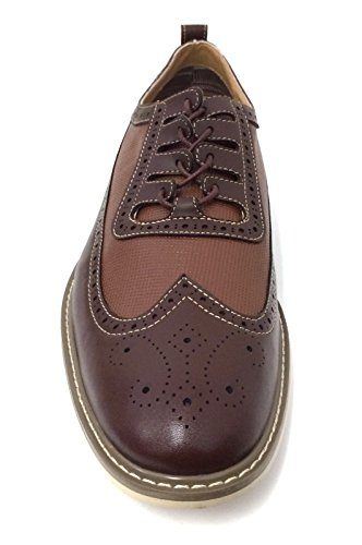 Bl-19278 Hommes Oxfords Aile Pointe Lace Up Cuir Doublé Casual Italy Style Robe Chaussures, Noir, Marron, Blanc Marron
