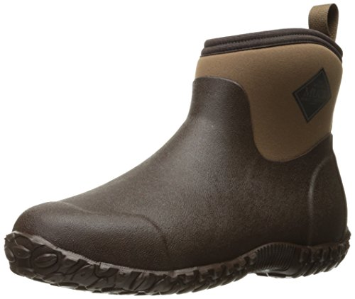 Muckster ll Ankle-Height Men's Rubber Garden Boots,Black/Otter,8 M US