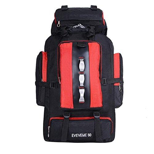 ZC&J 56-75L mochila de alpinismo de gran capacidad, al aire libre multi-funcional hombres y mujeres mochila impermeable en general, transpirable, resistente al desgaste, carga, cómoda mochila de alta  A