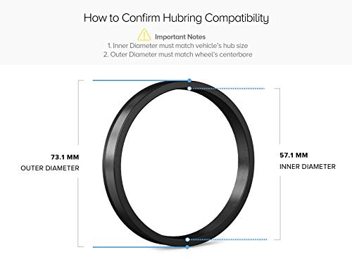 Hubcentric Rings (Pack of 4) - 57.1mm ID to 73.1mm OD - Silver Aluminum Hubrings - Only Fits 57.1mm Vehicle Hub & 73.1mm Wheel Centerbore by StanceMagic (Image #1)