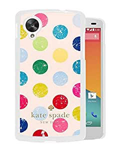Kate Spade 17 White High Quality Custom Google Nexus 5 Protective Phone Case