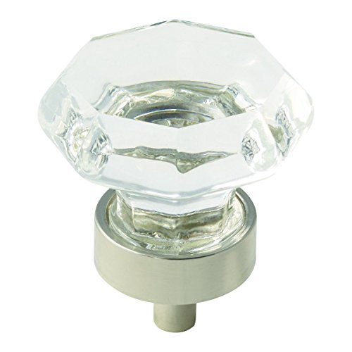 Amerock BP55268CPN Traditional Classics 1-5/16 in (33 mm) Diameter Clear/Polished Nickel Cabinet Knob