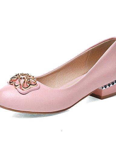 Robusto pink us6 us5 5 y GGX Punta Oficina black Rosa uk3 Beige Tacón Casual Blanco Confort Zapatos eu35 PU black cn34 us5 Tacones Negro 5 cn37 cn34 de eu35 Trabajo 5 Redonda uk4 uk3 eu37 7 mujer wCnCHIfq