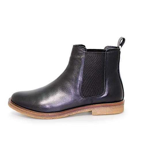 Lunar Black Boots Leather Chelsea Womens Teresa rxwqarX