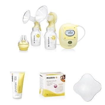 Medela Freestyle elektrische Doppel-Milchpumpe Flaschen Sauger Akku Tasche und Stilleinlagen inkl