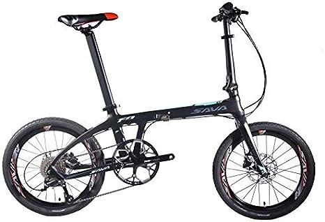 SAVANE Bicicleta Plegable Carbono, Z1 Bicicleta Plegable de 20 ...