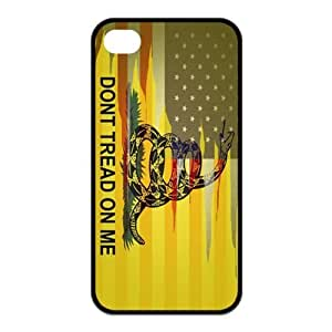 Fashionable Gadsden Flag Don't Tread On Me Design Printed Durable Rubber Iphone 4 4s Case