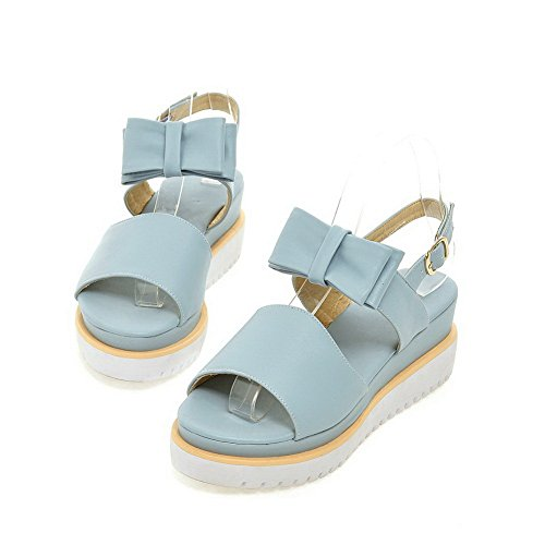 Sandals Polyurethane Blue 1TO9 Ladies High American Buttom Heels Muffin qS8Yq0