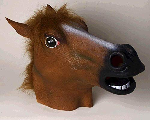 (Forum Novelties Brown Horse Deluxe Latex Farm Animal Costume)