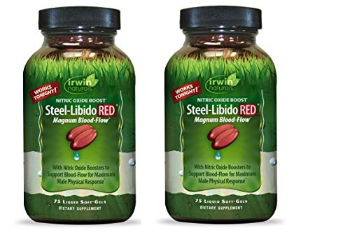 Irwin Naturals Steel Libido Red - 75 Softgels (Pack of 2)