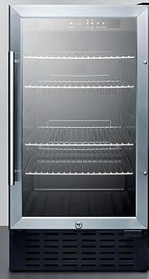 Summit SCR1841B Undercounter Beverage Refrigeration, Glass/Black