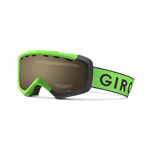 Giro Grade Snow Goggles - Kid's Bright Green/ Black Zoom Frame with Amber Rose - Your To Glasses Find How Size