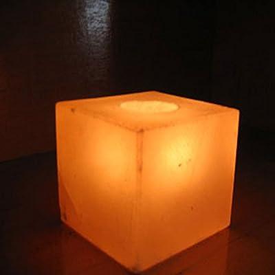 Himalayan Salt Square Shaped Candleholder