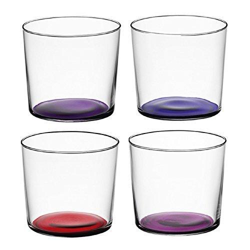 LSA International Berry Assorted Coro Tumbler (4 Pack), 10.5 fl. oz., Purple