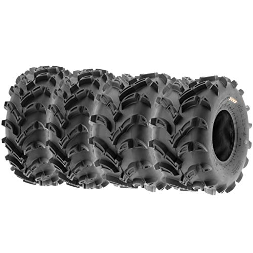 Set of 4 SunF A024 AT-Mud-Trail ATV UTV 23x8-11 Front & 22x11-9 Rear off-road Tires, 6 PR, Tubeless