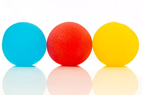 Stress Ball Game (Squishy Stress Relief Balls (3-pack) - Tear-Resistant Stress Ball, Non-toxic, BPA/Phthalate/Latex-Free (Colors as)