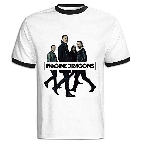 NEVA Mens Imagine Dragons Short Sleeve Hit Color T Shirts