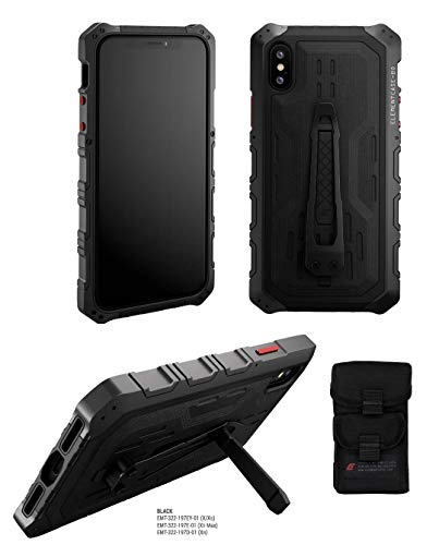 STM Goods Element Case Black Ops Elite Case for iPhone Xs/X (Black) ()