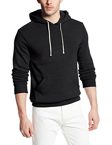 Alternative Mens Challenger Eco-Fleece Pullover Hoodie XXX-Large Eco True Black by Alternative