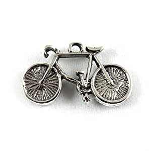 Plata De Ley Encanto De Bicicleta