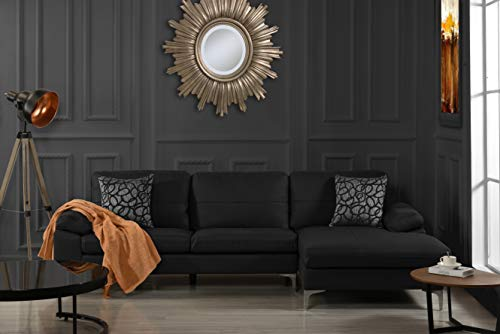 Leather Sectional Sofa, L-Shape Couch with Chaise, 108.7