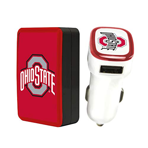 Quickvolt Ohio State Buckeyes Wall Charger/Car Charger Pack