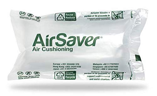 320 Count 4x8 airSaver air Pillows (3 Large Rolls) 39 gallons 5 Cubic feet Green Void Fill Cushioning eco Friendly by Airsaver Pack (Image #2)