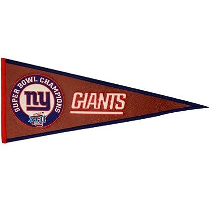 806c2f30bf7 Amazon.com   New York Giants Super Bowl XLII Championship Pigskin Felt  Pennant   Sports Related Merchandise   Sports   Outdoors