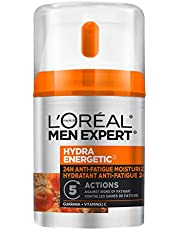 L'Oreal Paris Men Expert Hydra Energetic Face Cream , 24H Non-greasy Face Moisturizer for Men, with Vitamin C For Dry and Dull Skin, Dermatologist Tested, 48ml