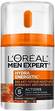 L'Oreal Paris Men Expert Hydra Energetic Face Cream , 24H Non-greasy Face Moisturizer for Men, with Vitami