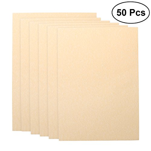 Parchment Paper Stationary - NUOLUX Stationary Paper,A4 Paper Sheets Kraft Writing Paper Vintage Sets,50Pcs