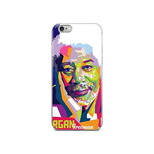 iPhone 6/6s Case Anti-Scratch Motion Picture Transparent Cases Cover Morgan Freeman in WPAP Action Movies Video Film Crystal Clear (Best Beaches In Zihuatanejo)