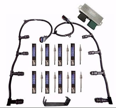 6.0L 2004-2010 Powerstroke Diesel F250 F350 Glow Plug Set Harness & GPCM + Tool by DTPD