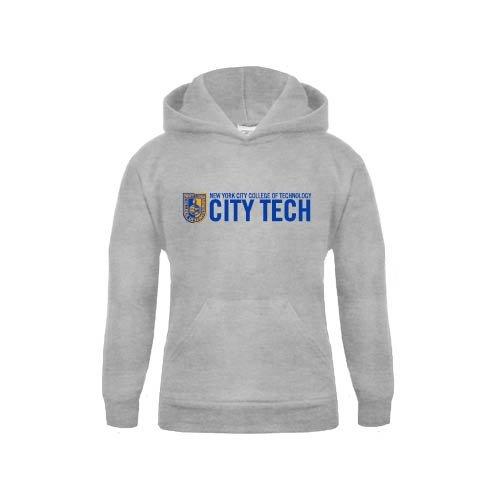 City Tech Youth Grey Fleece Hood City Tech w//Shield
