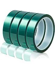 Mungowu 4 rollen hitte BBNder transferband sublimatie hittebestendige tape hitte vinyl pers tape voor doe-het-zelf handwerk op T-shirt stoffen