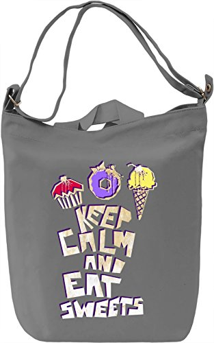 Keep Calm And Eat Sweets Borsa Giornaliera Canvas Canvas Day Bag| 100% Premium Cotton Canvas| DTG Printing|