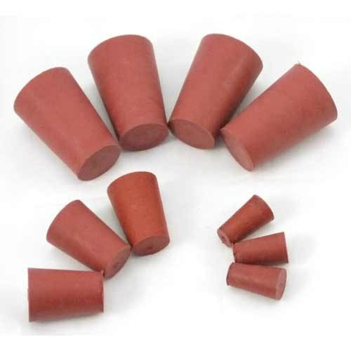 5 pc 27 Laboratory Science Plug for Test Tubes Lab 27mm x 31mm x 32mm Red Solid Rubber Stopper Bung No