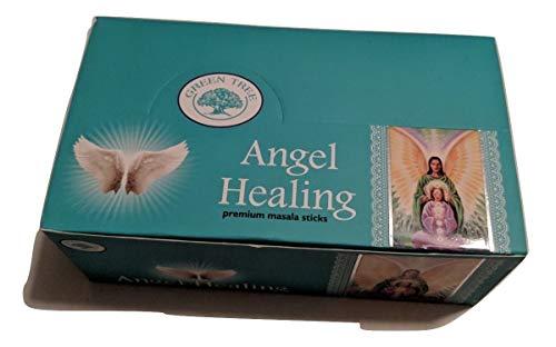 Angel Healing Incense Sticks by Green Tree (Retail Box-12 Single 15gr -