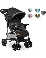Lionelo Emma Plus barnvagn barnvagn lätt modern liten buggy med hopfällbar position (stone)