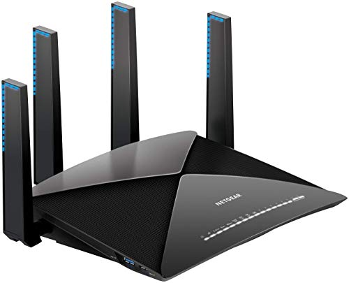NETGEAR Nighthawk X10 Smart WiFi Router (R9000) - AD7200 Wireless Speed (up to 7200 Mbps) for 60Ghz WiFi Devices | Up to 2500 sq ft Coverage | 6 x 1G Ethernet, 1 x 10G SFP+, and 2 USB ports from NETGEAR