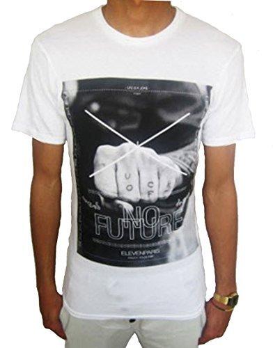 Eleven Paris Herren MANA Grafik T-shirt weiß (EPTS012)